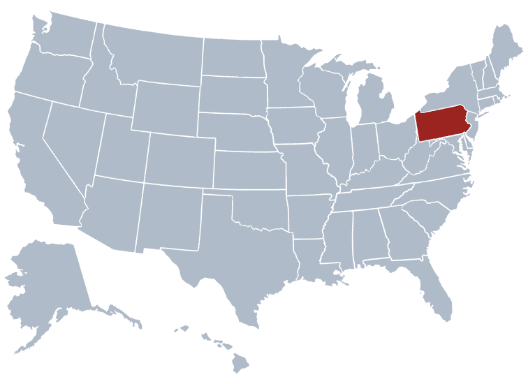 USA States Covered by Ovid Media Group- Pennsylvania