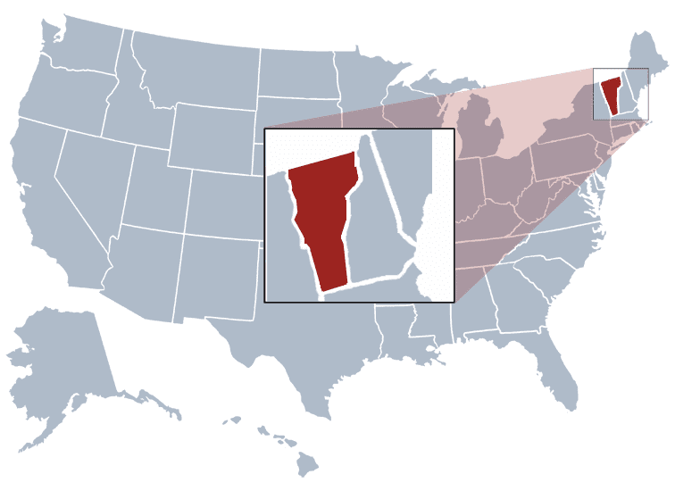 USA States Covered by Ovid Media Group- Vermont