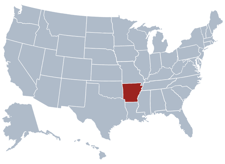 USA States Covered by Ovid Media Group-arkansas
