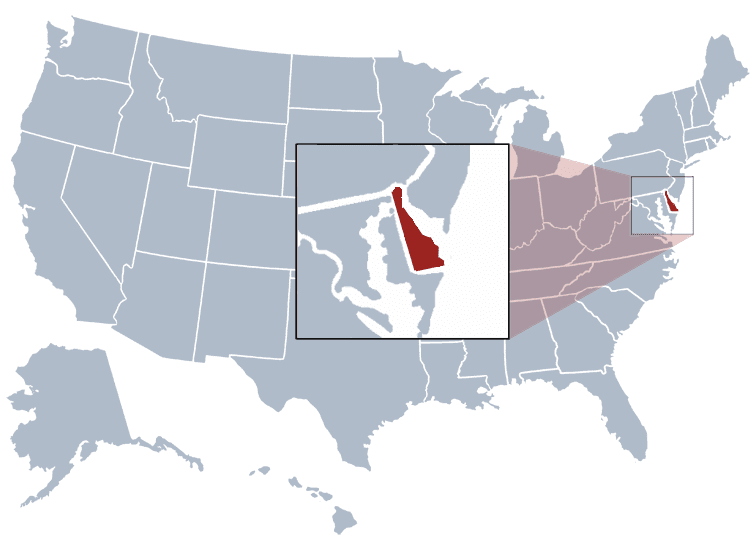 USA States Covered by Ovid Media Group-delaware