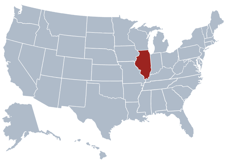 USA States Covered by Ovid Media Group-illinois