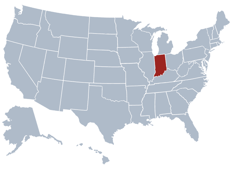 USA States Covered by Ovid Media Group-indiana