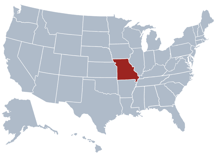 USA States Covered by Ovid Media Group-missouri