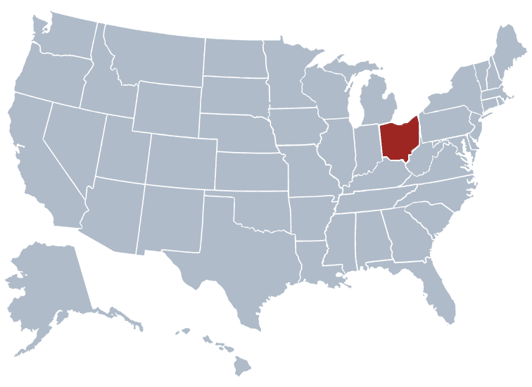 USA States Covered by Ovid Media Group-ohio